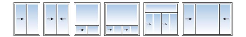Configuration des fenêtres coulissantes