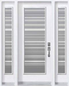 Porte d'entrée en acier de style Azur par Novatech
