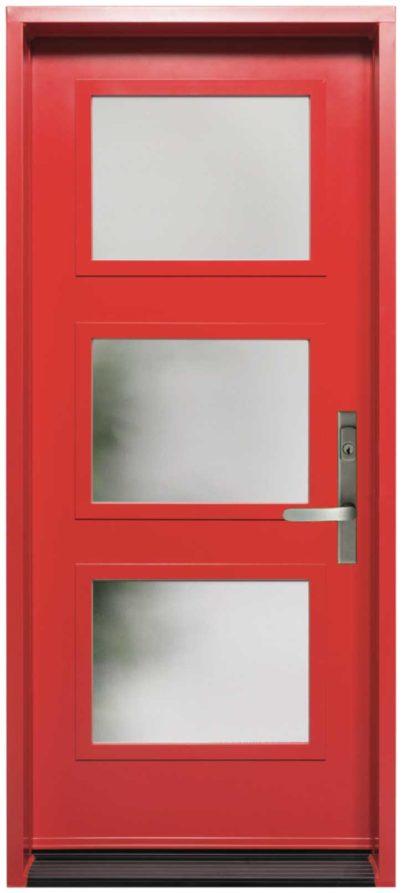 Porte Acier Création Verre Sélect Screen Rouge